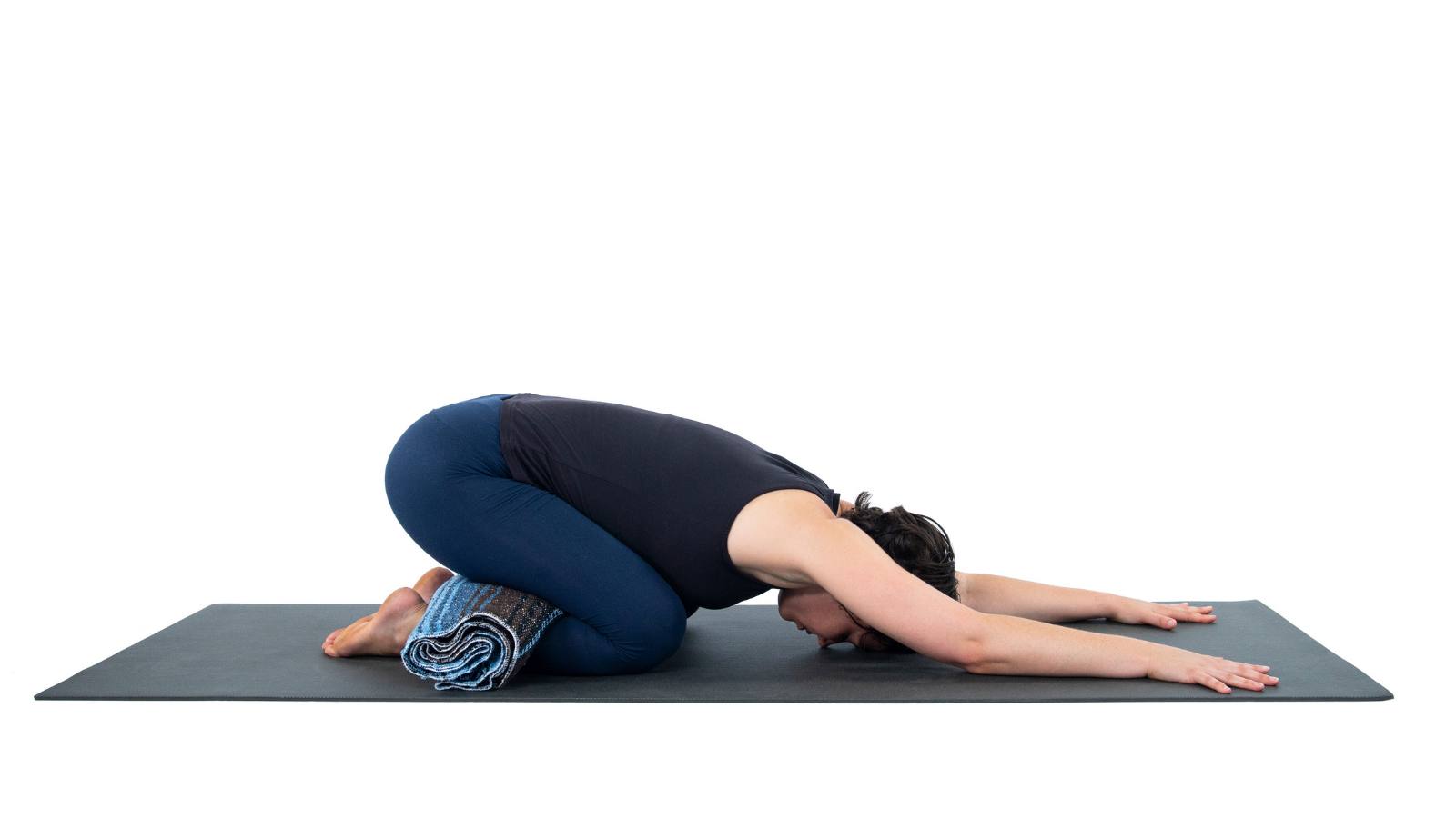 Child's Pose or Balasana a mild resting pose to help in the process of opening the heart chakra
