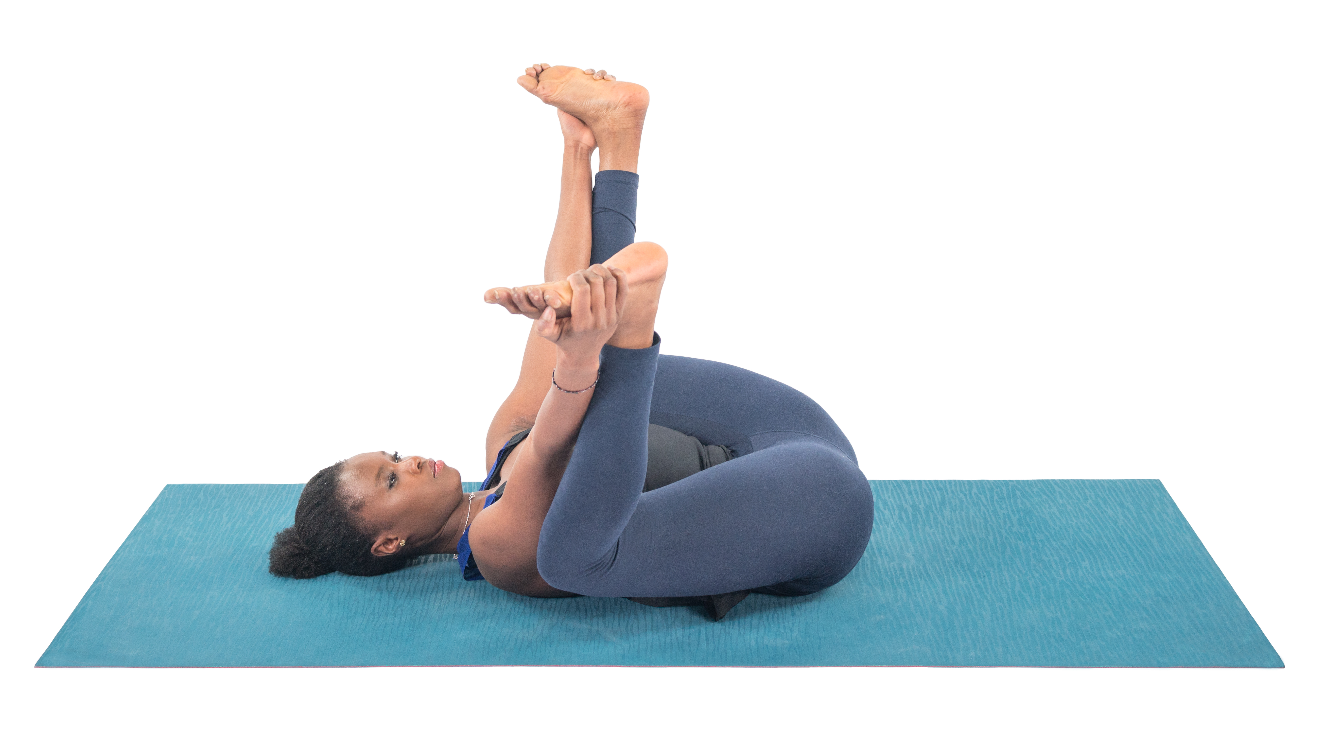 Happy Baby Pose, Ananda Balasana, Supine pose, pose for good pelvic health, beginner's yoga