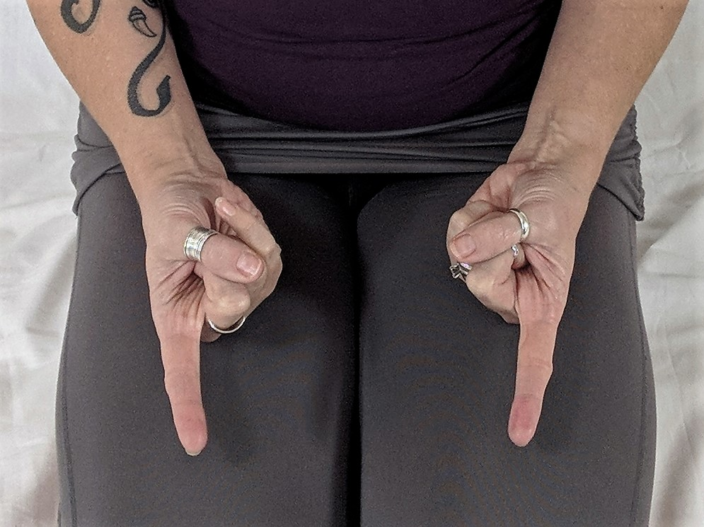 Anushasana, mudra, hand position, energy flow, yoga for cancer, yoga for lymphedema