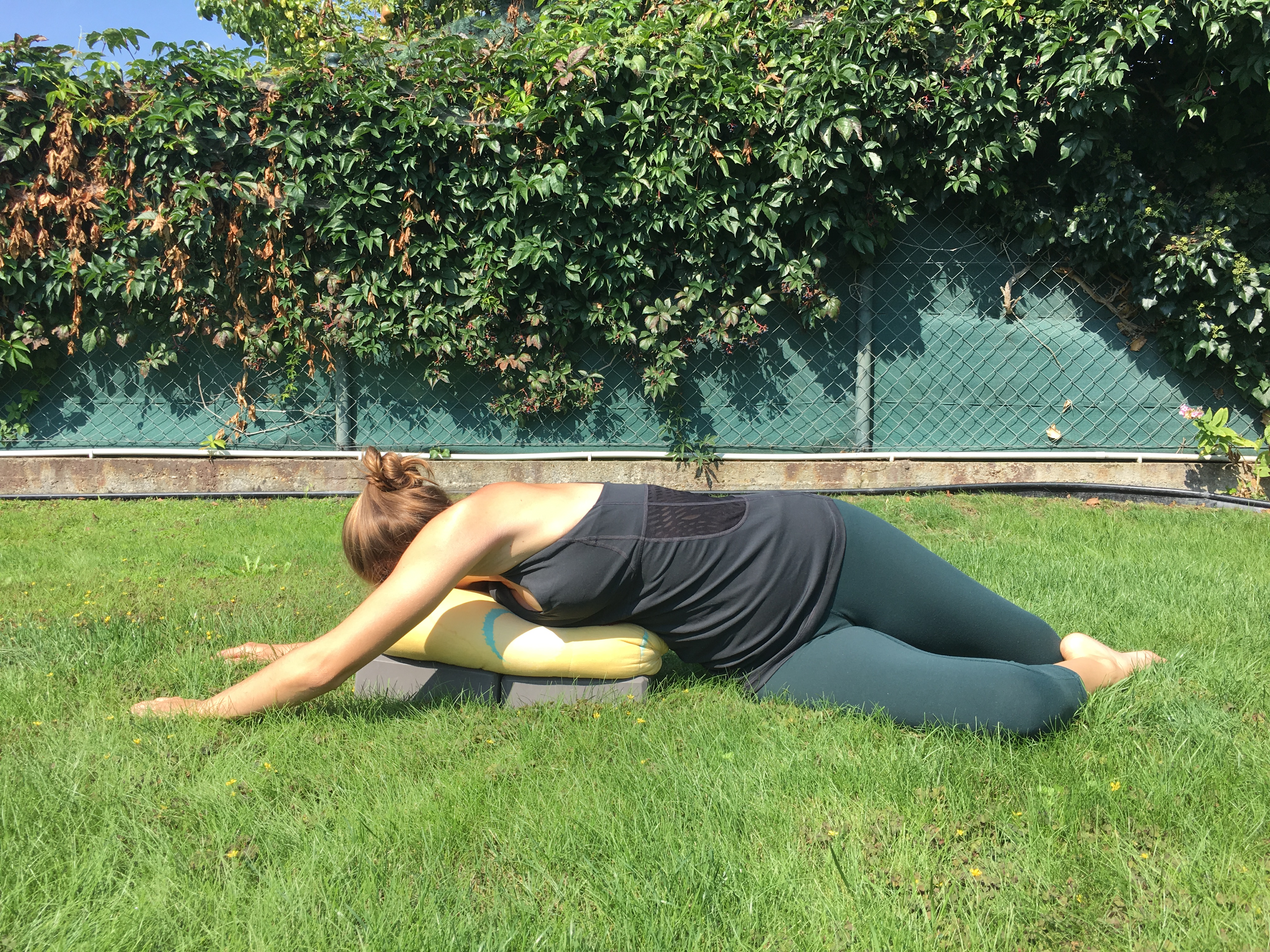 deer pose, supine twist, supported twist, side stretching in yoga, yin yoga, yoga practice tips
