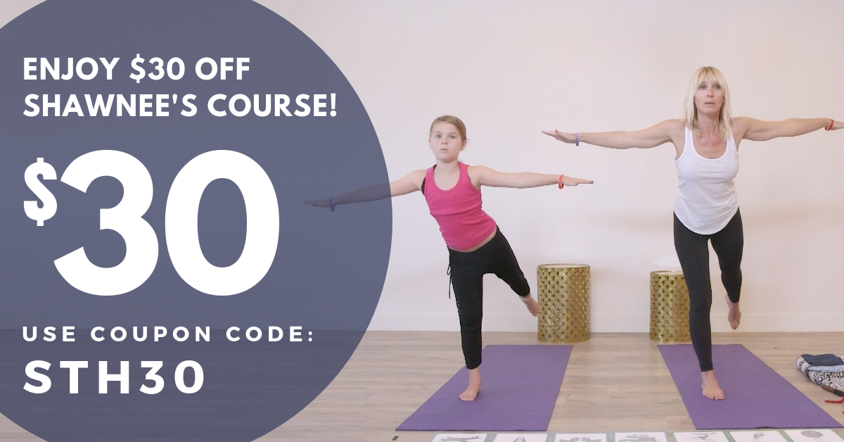Early Bird $30 coupon for Shawnee Thornton Hardy Online Yoga Class for Kids with Special Needs ADHD