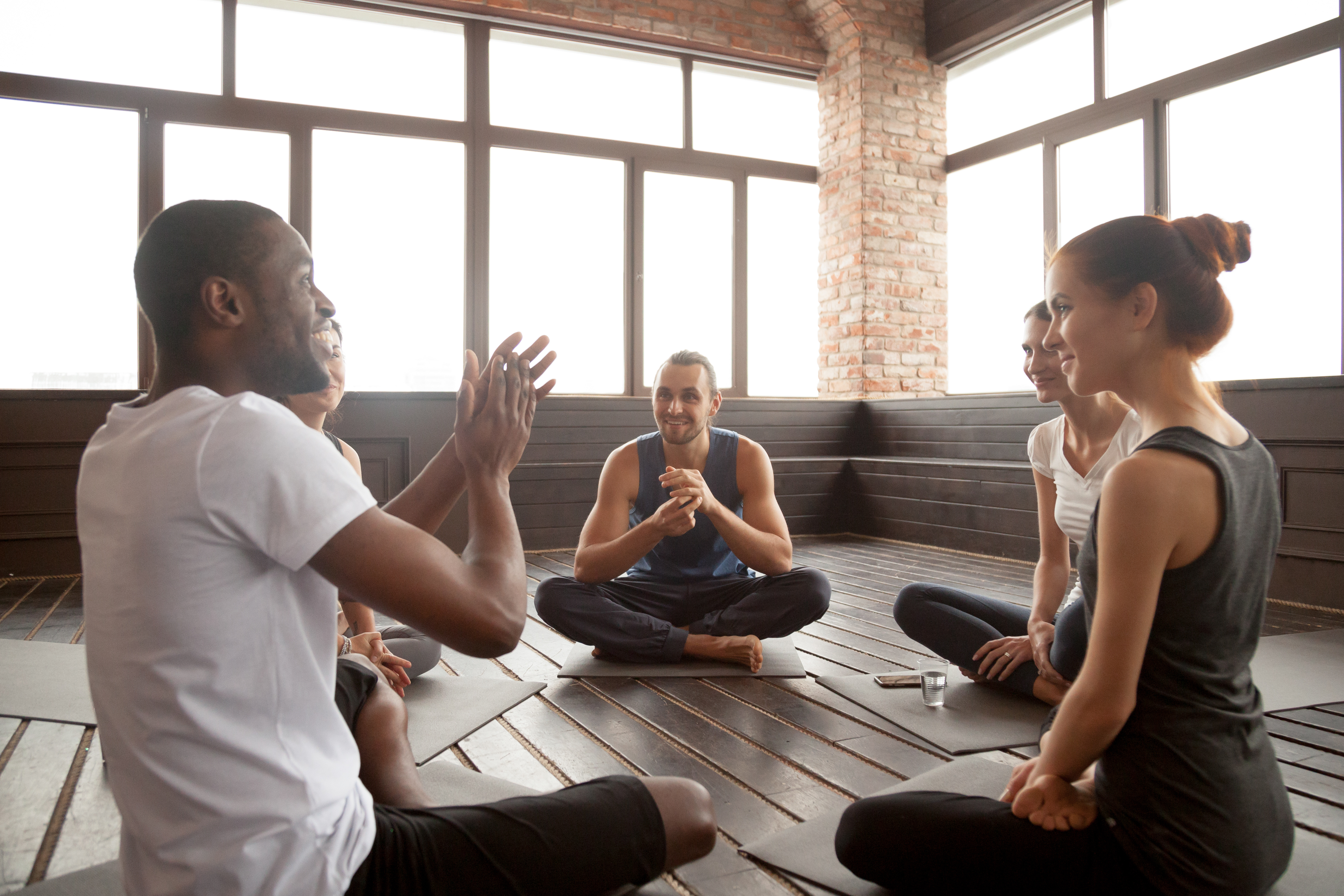 teacher training, yoga community, group support, reduce anxiety, increase social togetherness
