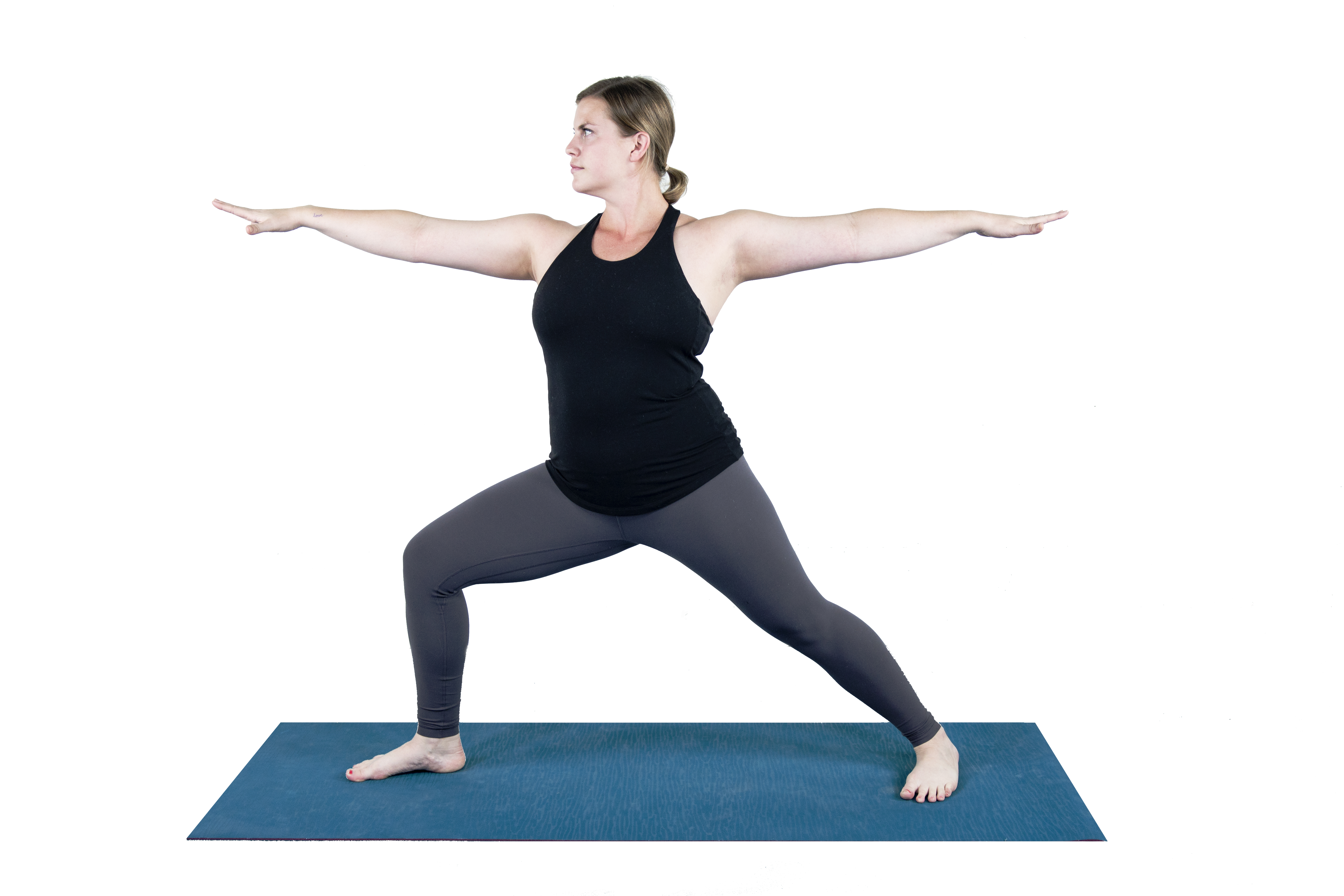 warrior 2 Virabhadrasana II yoga pose for runners