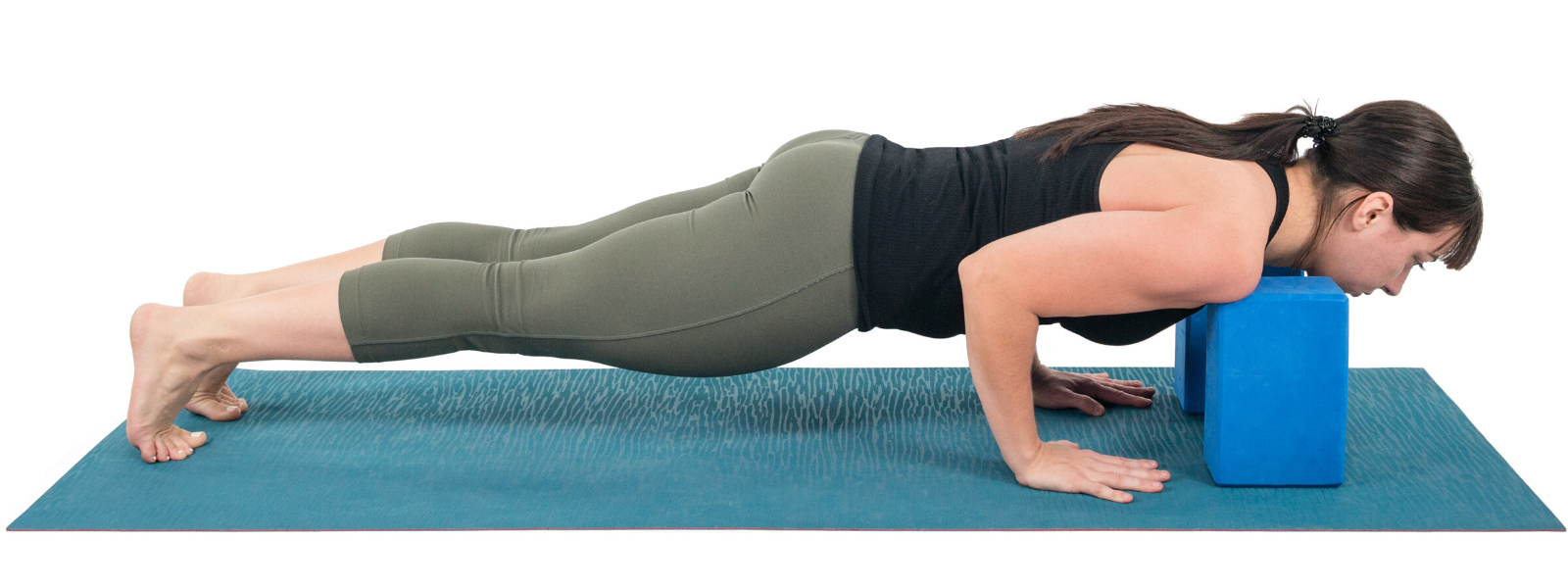 Chaturanga Dandasana on blocks