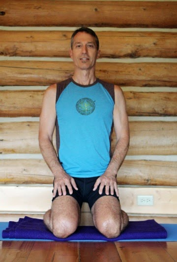 hero pose, virasana, front view, supported hero pose, comfort in the pose