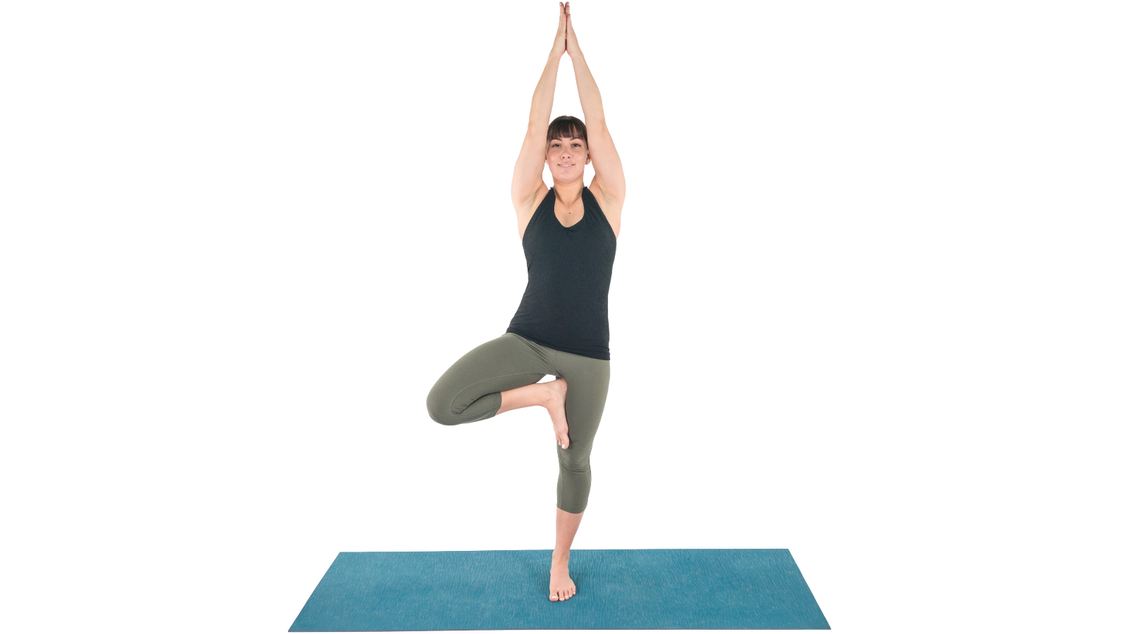 Tree Pose or Vrksasana is a grounding balance pose in yoga