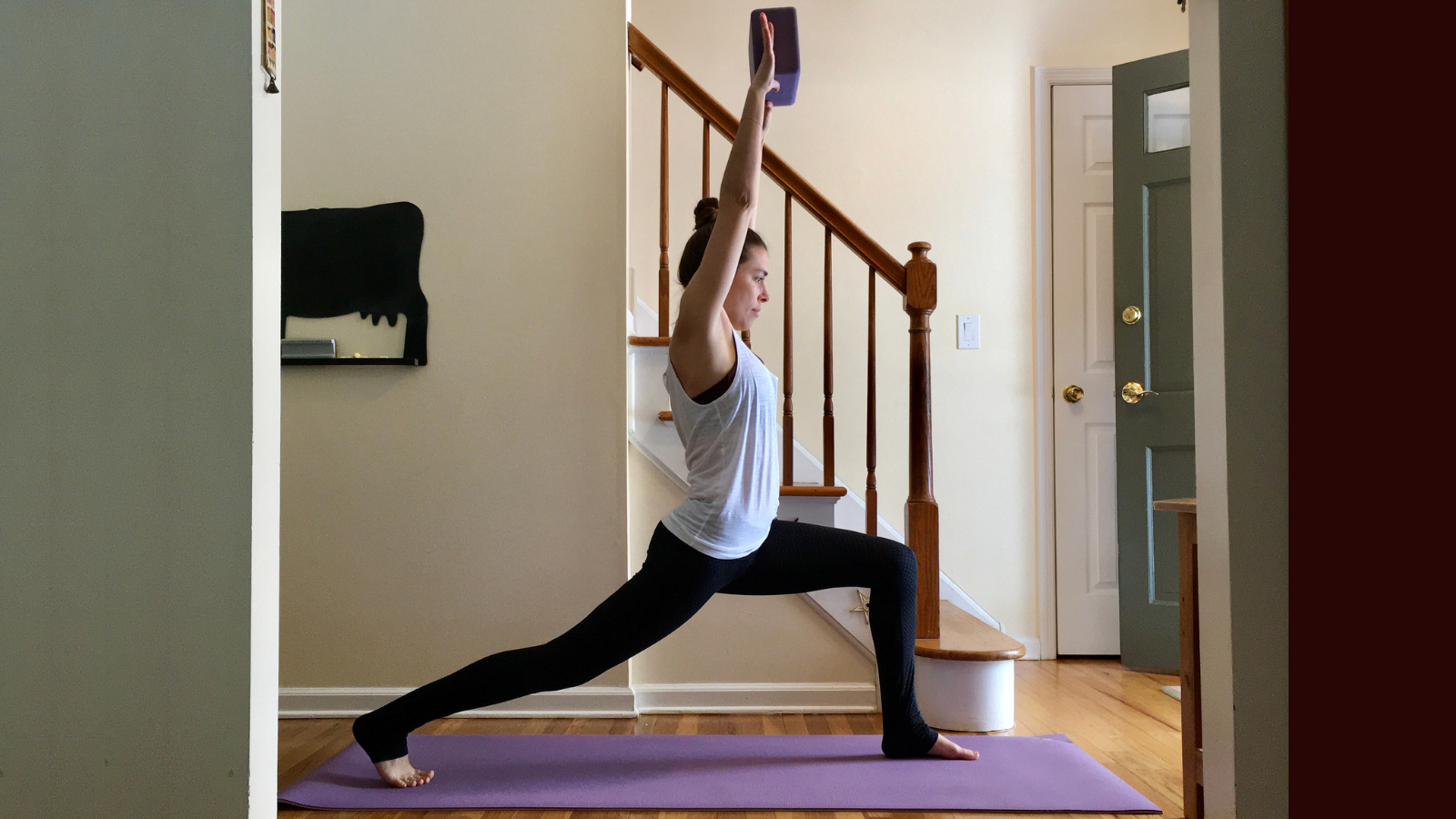 How to practice increased load capacity with weighted yoga poses in Crescent Lunge Pose