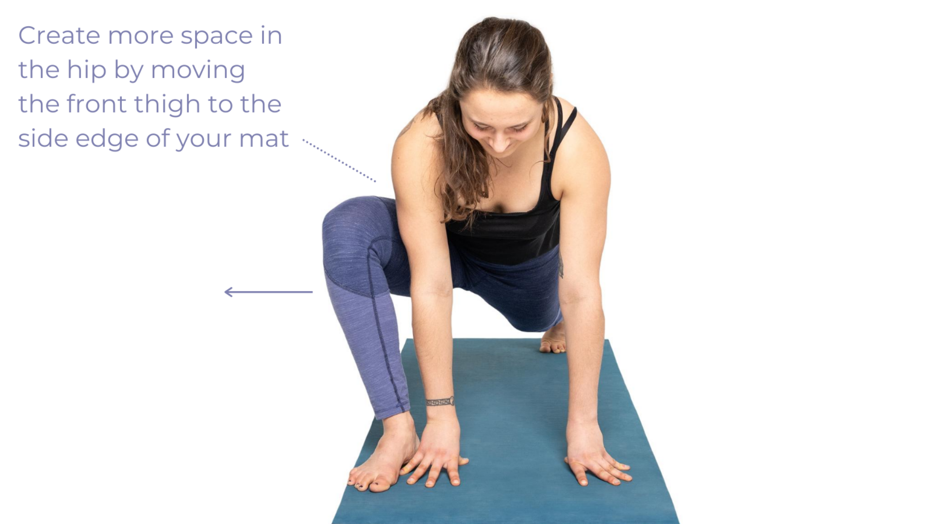 How to angle your toes while practicing Lizard Pose (Utthan Pristhasana prep