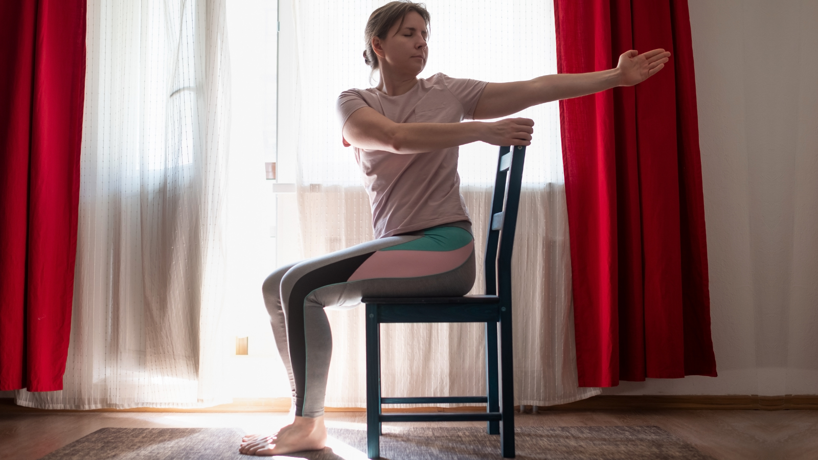 Beginner yoga tips to practice Seated Twist pose to boost energy without caffeine