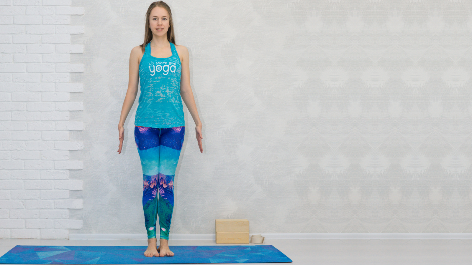 How to practice Mountain yoga Pose (Tadasana) at the wall to help treat and prevent tension headaches
