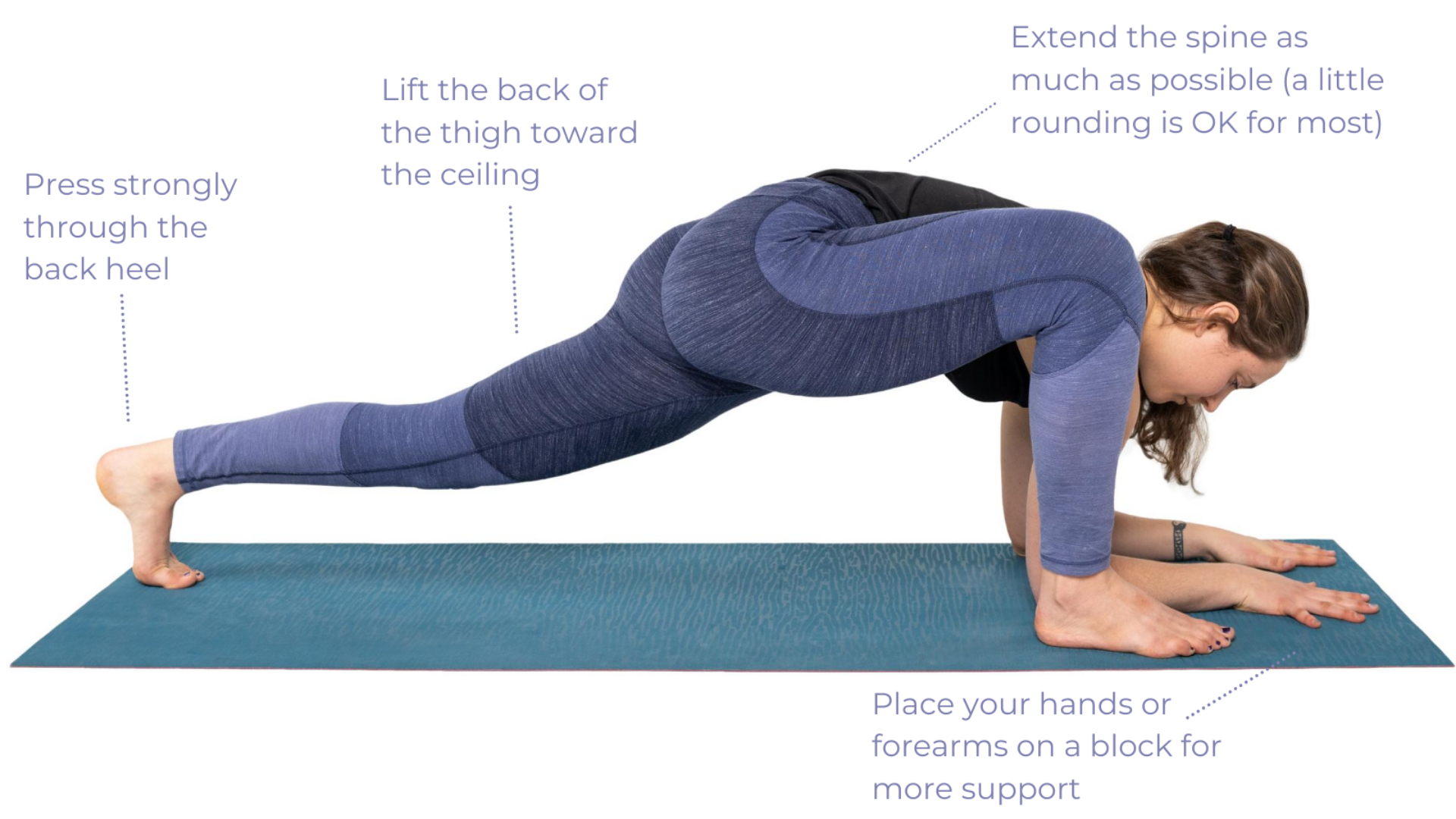 Yoga teaching tips to make practicing Lizard Pose (Utthan Pristhasana) more enjoyable and unique to your body