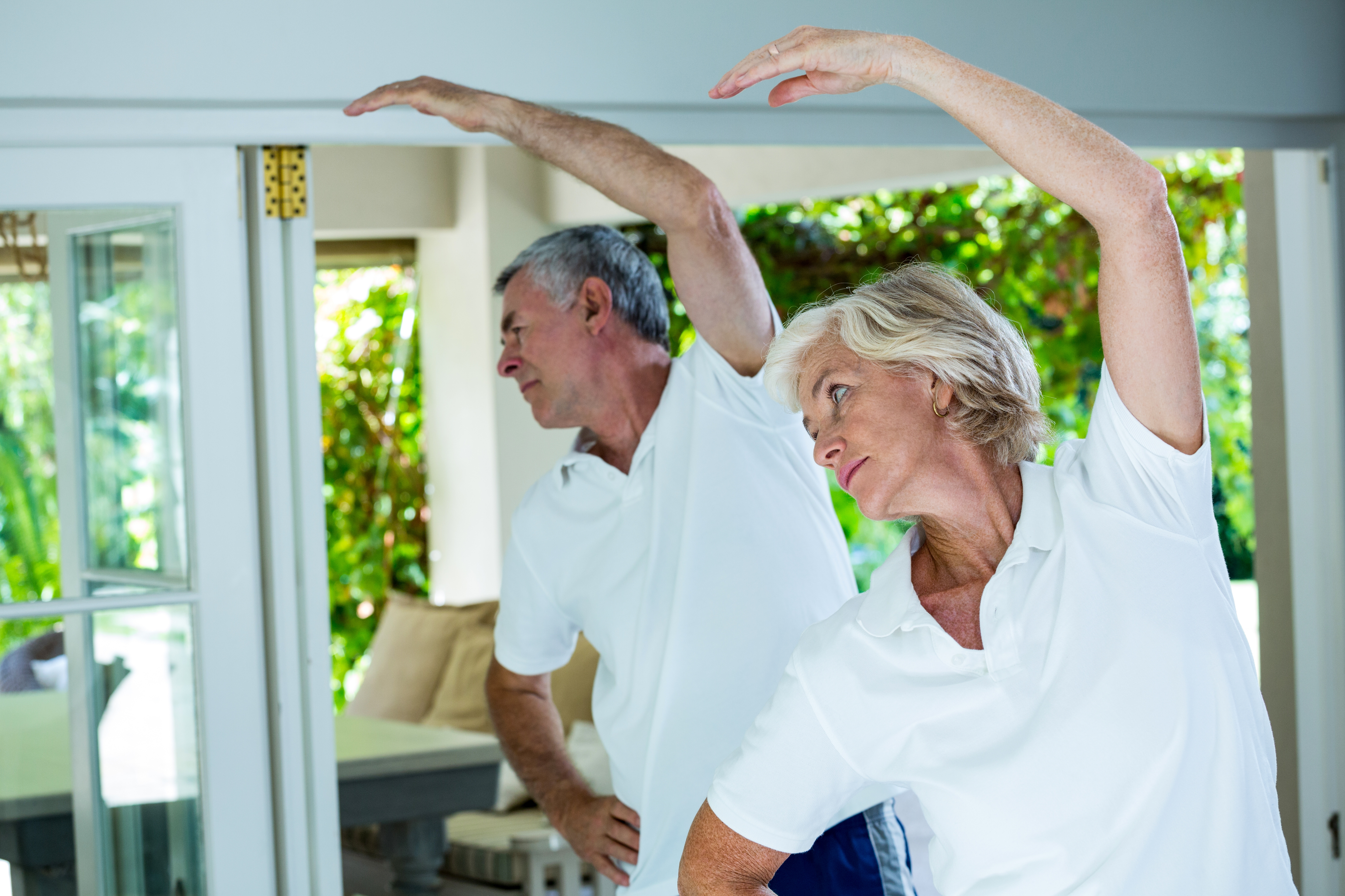 seniors exercising, meditation and exercise, meditation fosters greater body awareness,