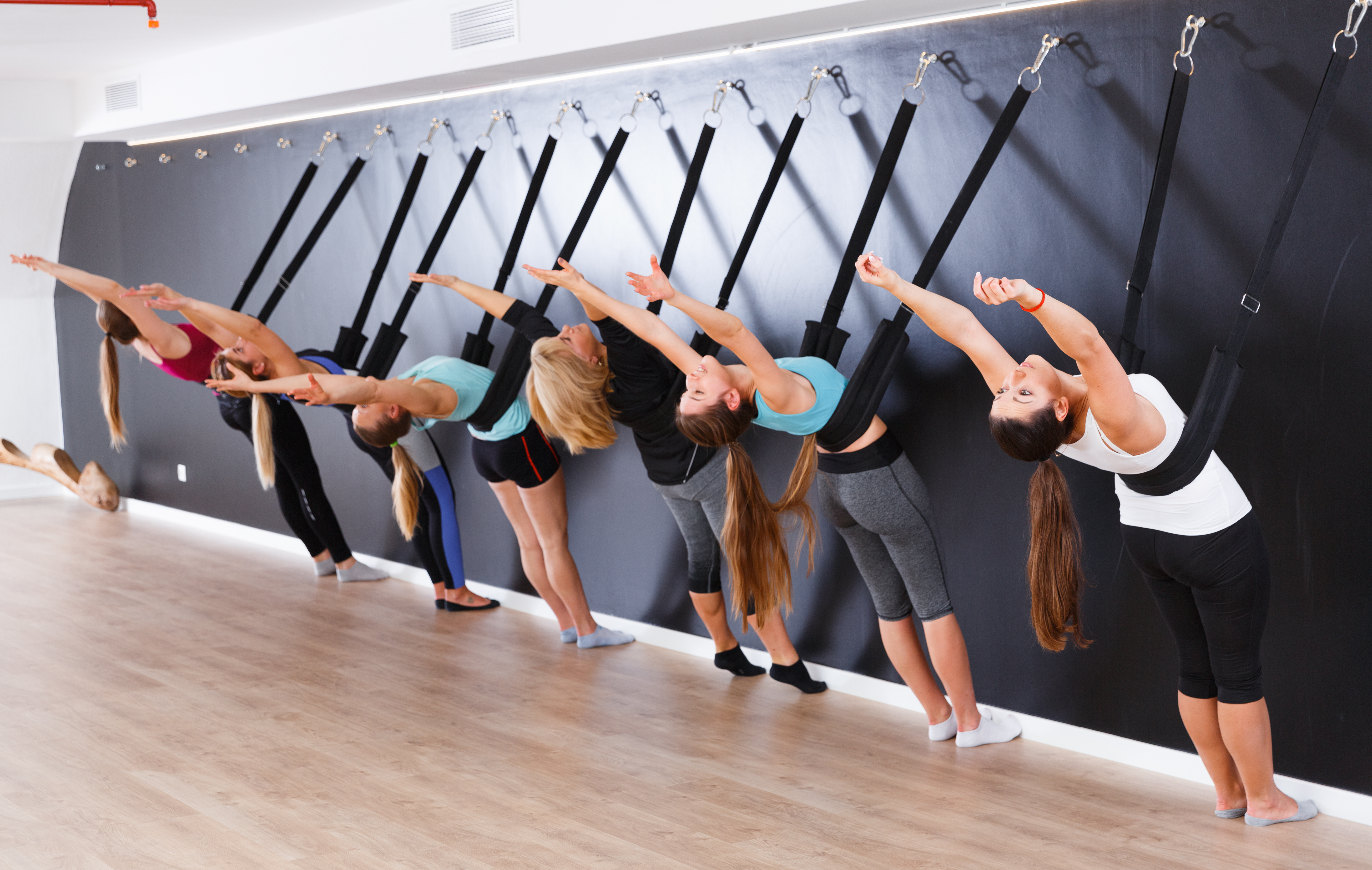 Yoga at the wall, support and alignment, yoga stretches, Iyengar Yoga, using the wall in yoga