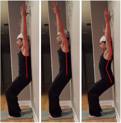 Yoga at the wall, support and alignment, yoga stretches, shoulder opening, using the wall in yoga