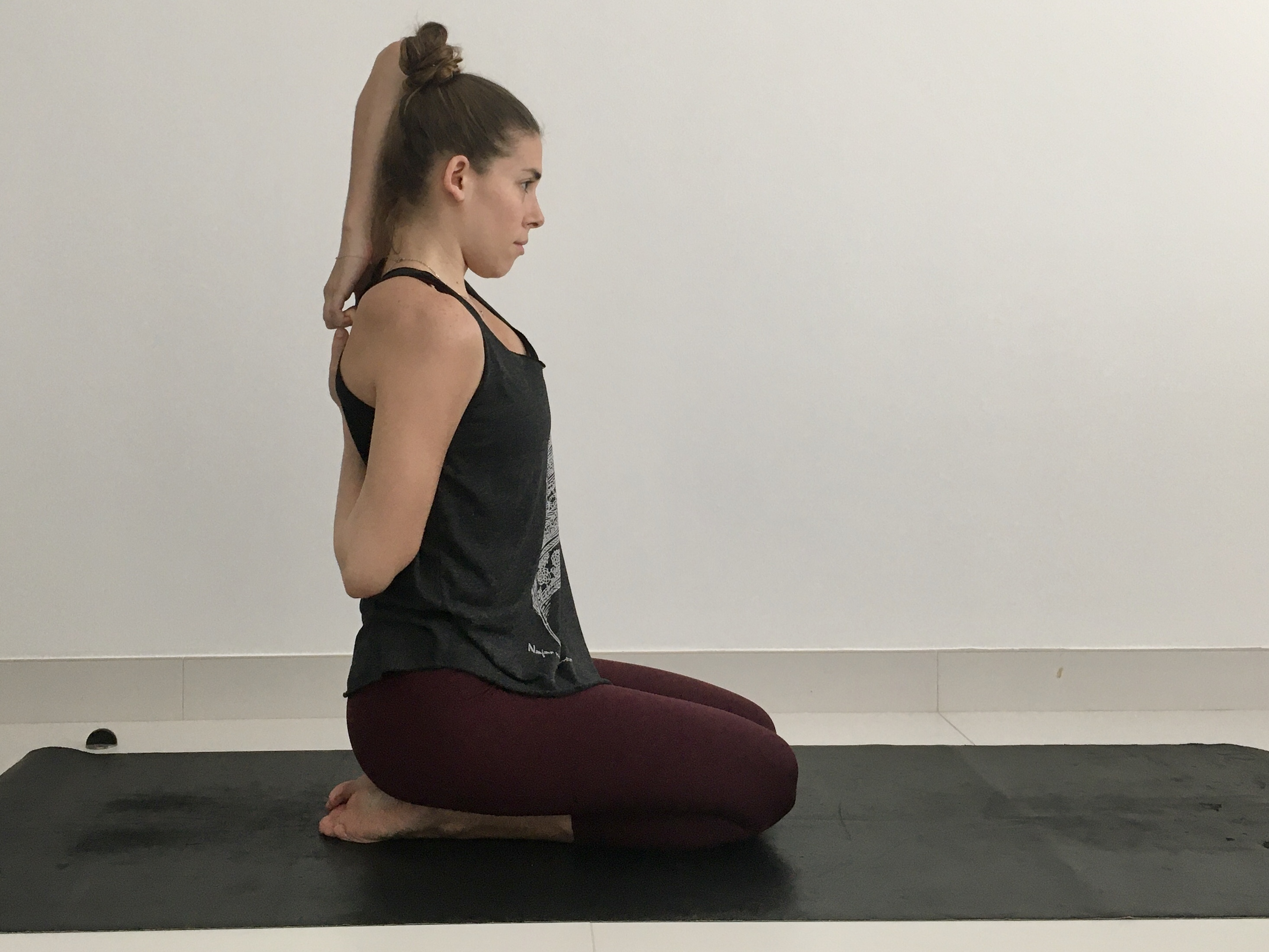 Cow Face Arms, Gomukhasana Arms, stretch and strengthen muscles of the rotator cuff