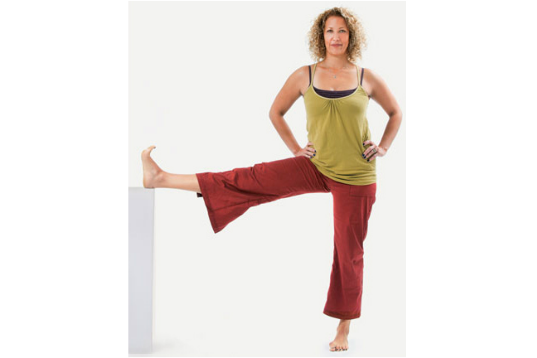 Utthita Hasta Padangusthasana, hand to toe pose, yoga with props, lateral version of this pose, sequence for healthy hips and knees