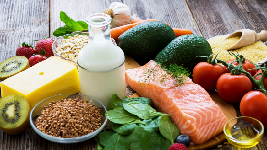 a healthy, well rounded diet for optimal health and for relief of chronic pain