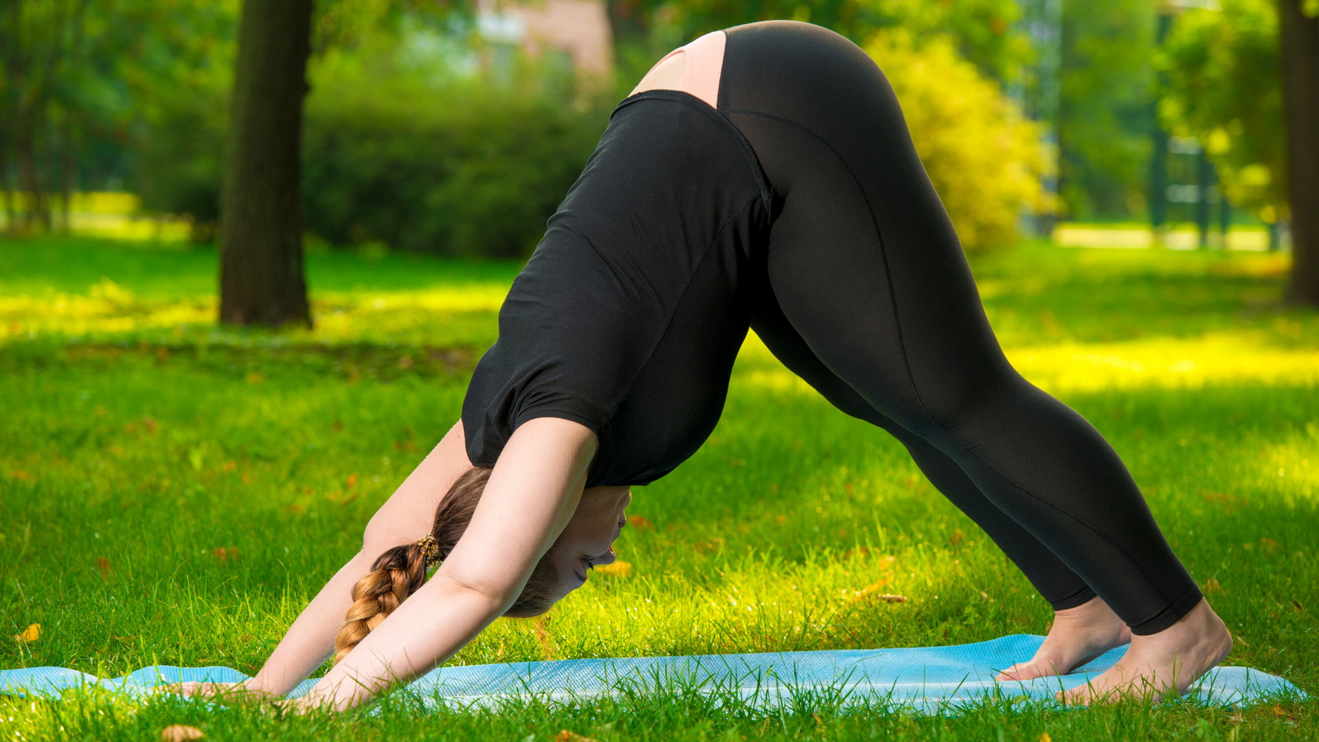 Downward Facing Dog Pose (Adho Mukha Svanasana) yoga for neck