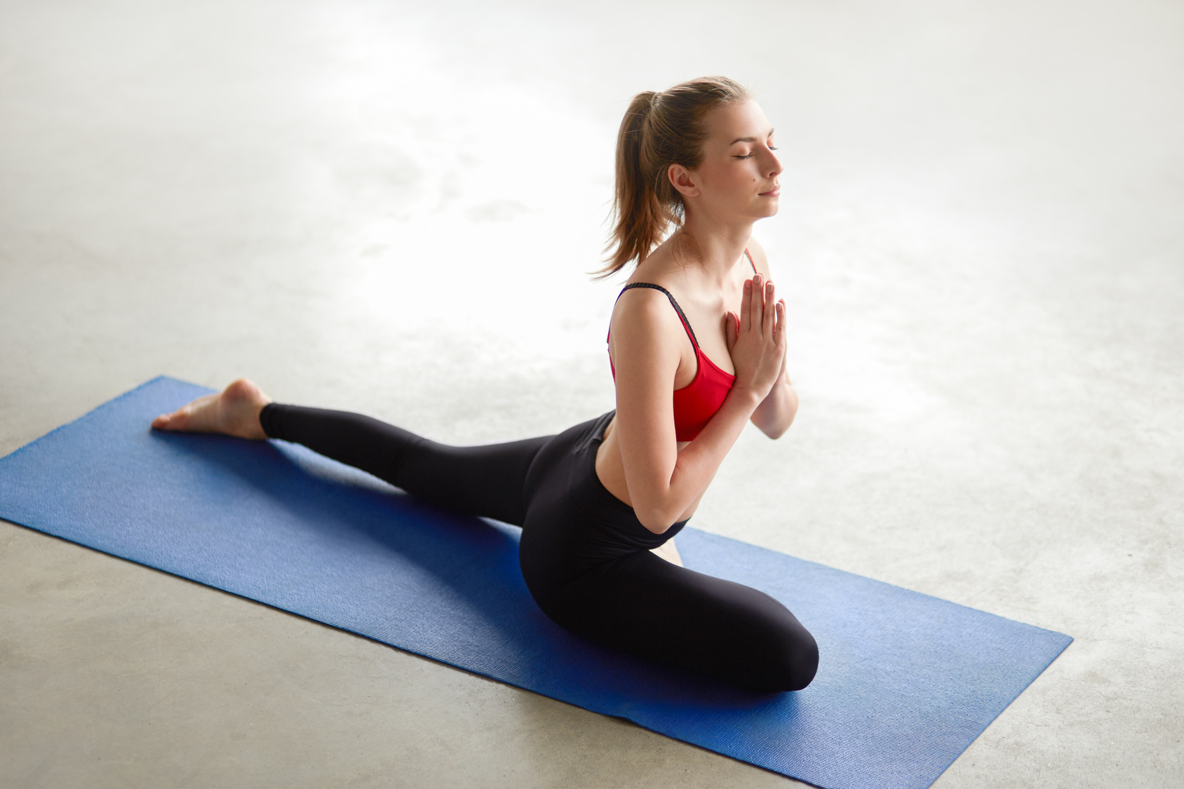 Pigeon Pose Yoga Stretch