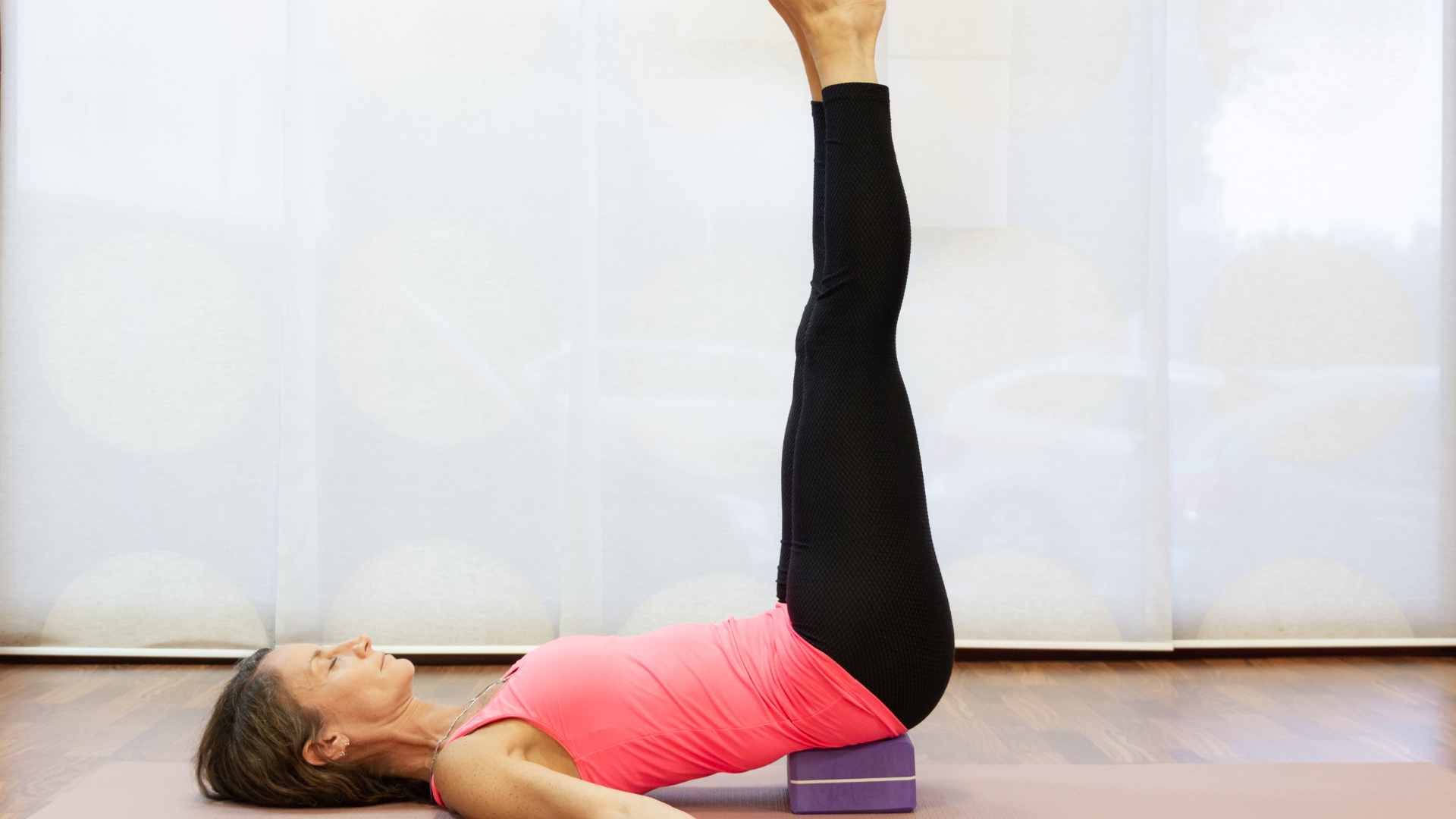 Supported Shoulderstand with a block