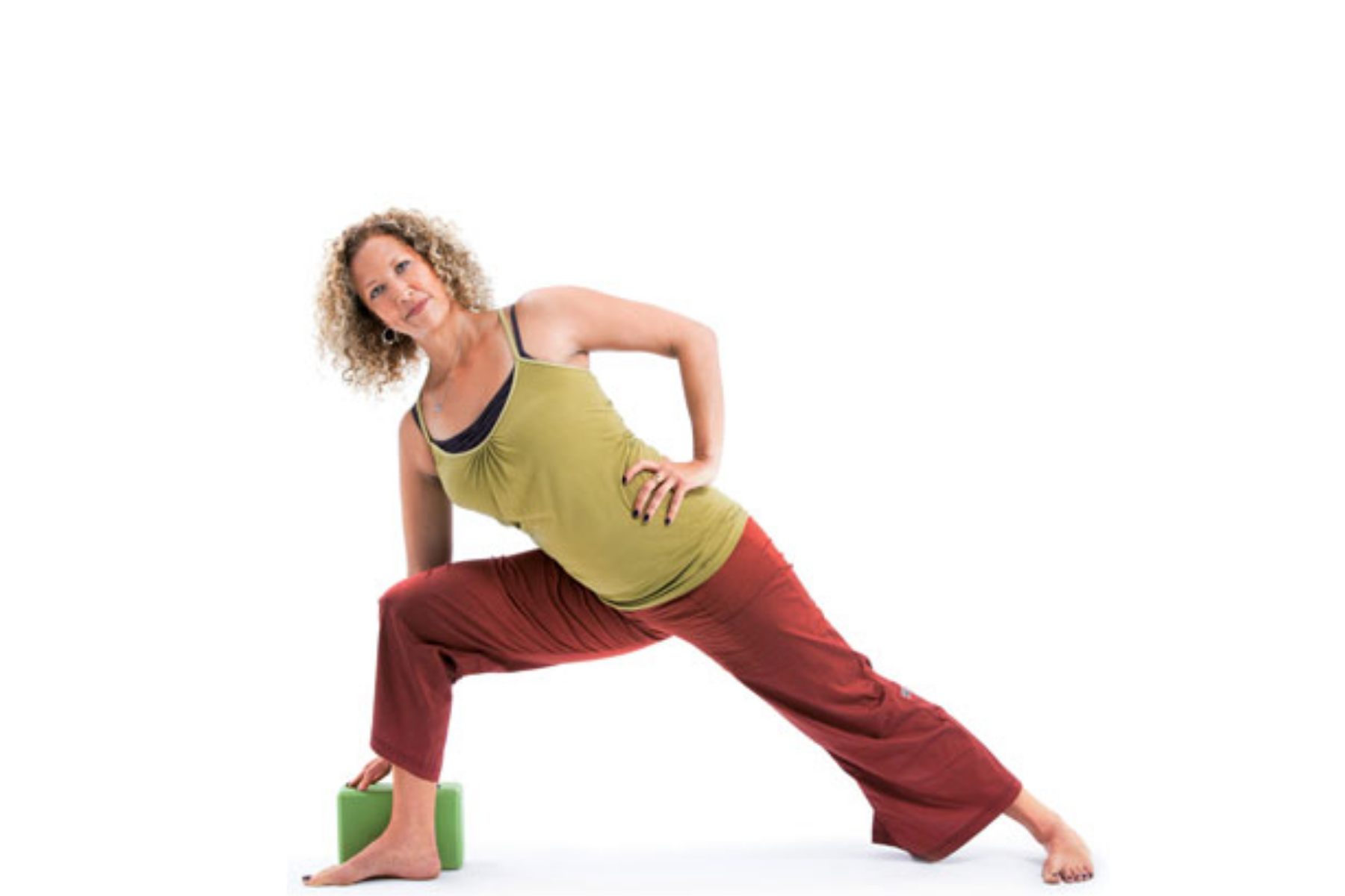 Parsvakonasana, Side angle pose, props in yoga, beginner's yoga, sequence for healthy hips and knees