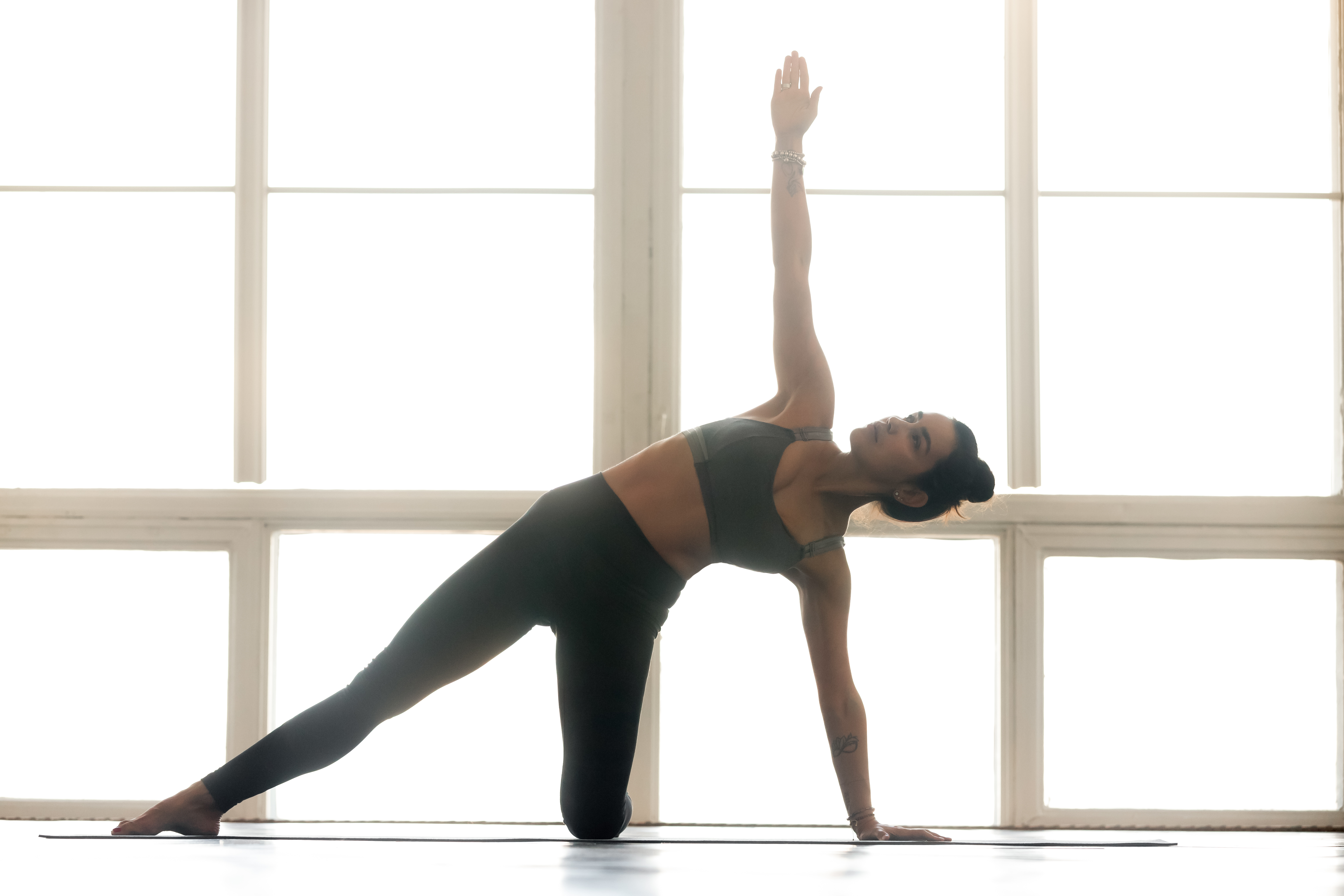 Reverse Parighasana, Star gazer pose, backbending pose