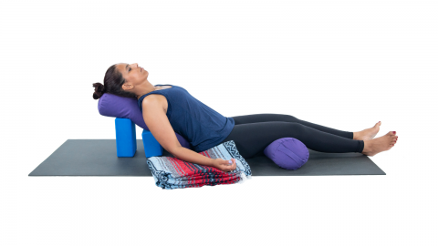 How to reconsider how we use yoga props in supported Corpse Pose (Savasana)