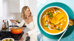Nutritious and easy to make relaxing root veggie soup