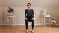 yoga woman sitting in chair