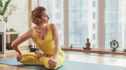 Woman Empowering her Yoga Practice with Inquiry and Agency in the Asana Practice