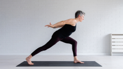 mature yoga woman practicing yoga for healthy aging