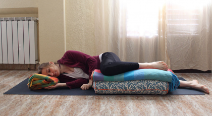 Yoga tips to safely modify Savasana pose during pregnancy