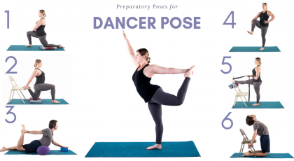 dancer pose preparation sequence