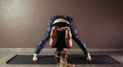 Yoga for depression Wide-Leg Forward Bend (Prasarita Padottanasana)