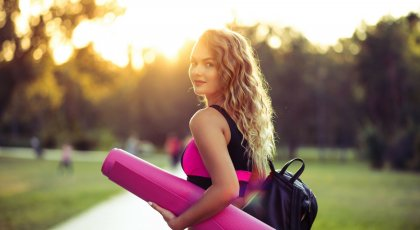 teenage girl going to yoga class for anxiety
