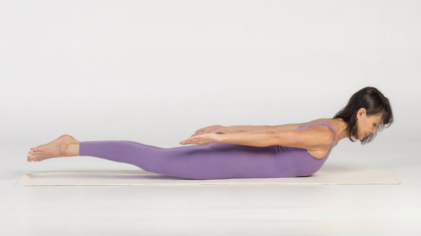 Locust Pose or Salabhasana is a gentle strengthening backbend