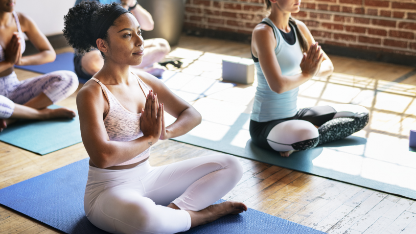Yoga student and calming practices that help regulate vagal nerve response
