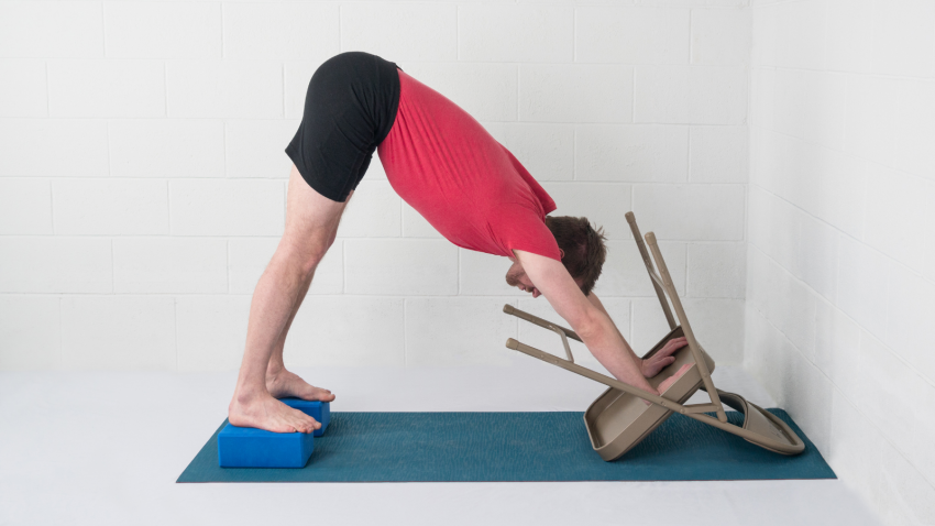 Making Downward Facing Dog Pose your own with props to support you