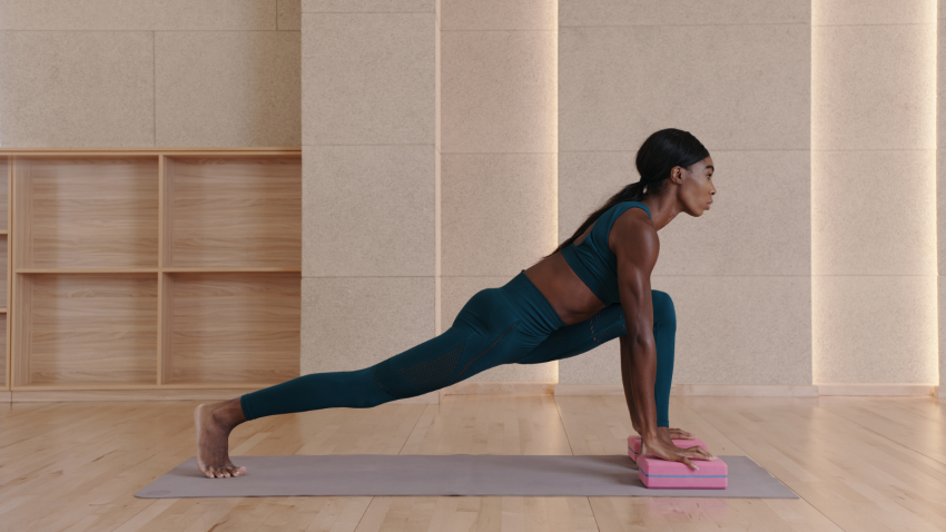 How to practice the full expression of Crescent Lunge Pose (Anjaneyasana) with modifications