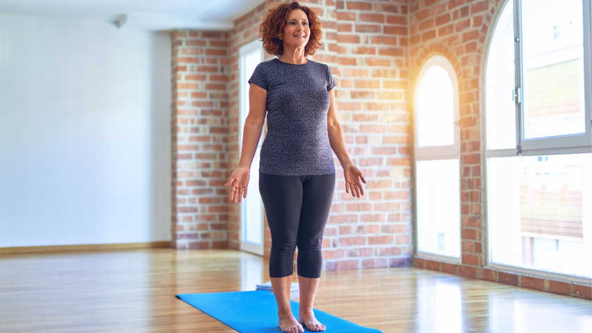 How to understand the anatomical language of yoga student starting by standing in Mountain Pose