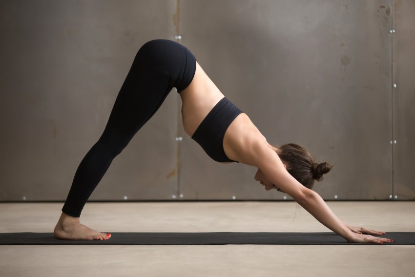Woman in Downward-Facing Dog (Adho Mukha Svanasana)
