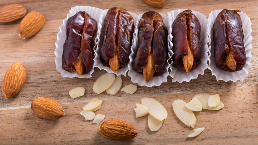 dates stuffed with almonds date surprise