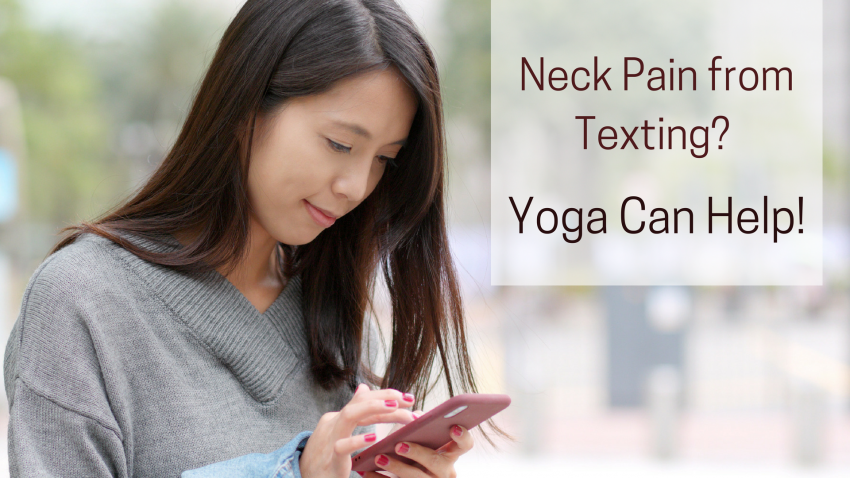 yoga for text neck