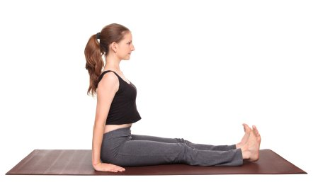 building core strength with dandasana  staff pose