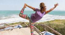 How to practice intuitive eating and the principles of yoga in Dancer's Pose ( Natarajasana)