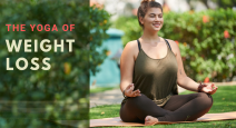 Yoga woman meditating with healthy weight loss